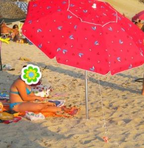 la più bella della spiaggia