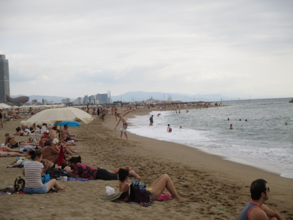 Spiaggia lunga lunga lunga
