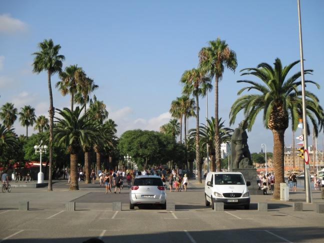 Viale con Palme. A Cagliari ce n'è uno uguale !