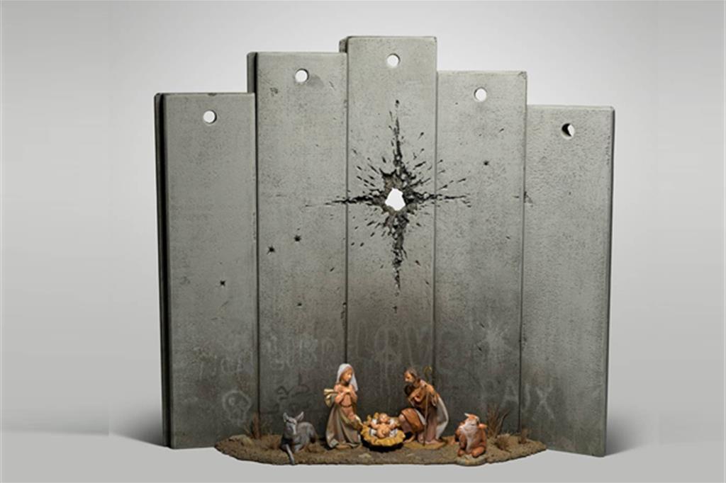 A scar of Bethlehem di Bansky NON DEAD -LIBR -LOVE -PAIX