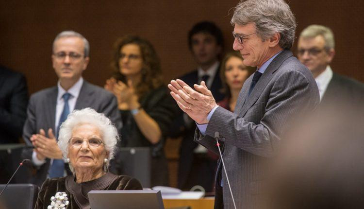 Liliana Segre al Parlamento Europeo 29 gennaio 2020